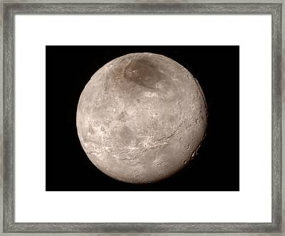 Charon Framed Print by Nasa/johns Hopkins University Applied Physics Laboratory/southwest Research Institute