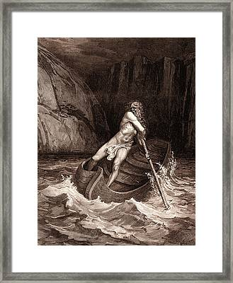 Charon, The Ferryman Of Hell Framed Print by Litz Collection