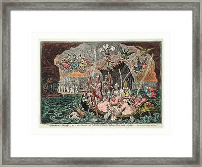 Charons Boat  Or  The Ghosts Of All The Talents Taking Framed Print by Welsh School