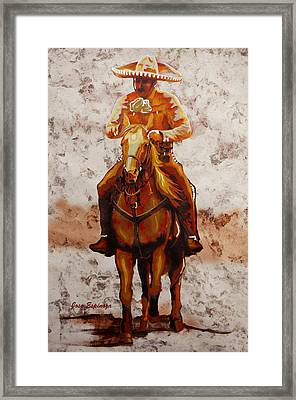 Charro Framed Print by J- J- Espinoza