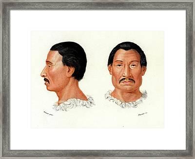 Charrua Man Framed Print