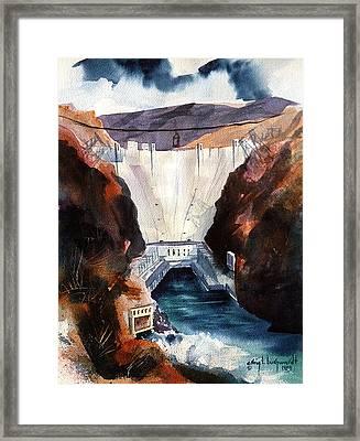 Char's Hoover Dam Framed Print