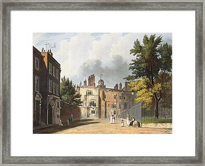 Charter House From The Square Framed Print by William Westall