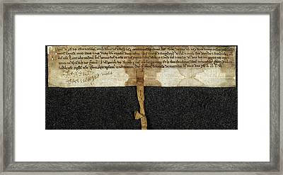 Charter Of Magnus Framed Print by British Library