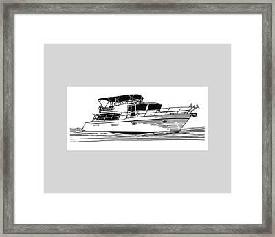 Charter Yacht Framed Print by Jack Pumphrey
