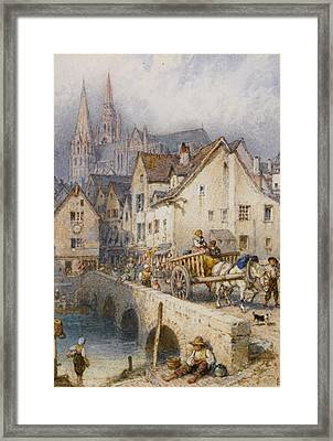 Charters Framed Print by Myles Birket Foster