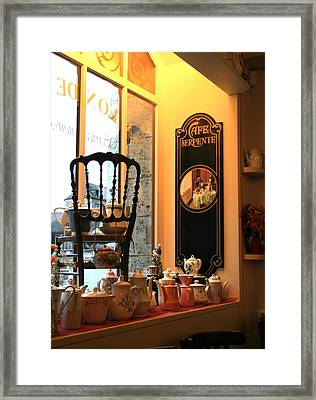 Chartres Cafe Framed Print