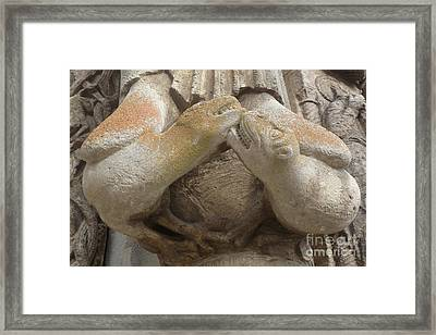 Framed Print featuring the photograph Chartres Cathedral Carving by Deborah Smolinske