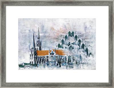 Chartres Cathedral Framed Print by Catf