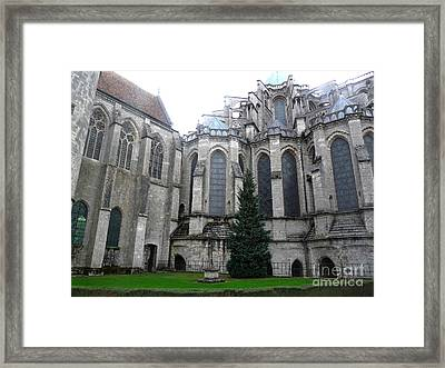 Framed Print featuring the photograph Chartres Cathedral by Deborah Smolinske