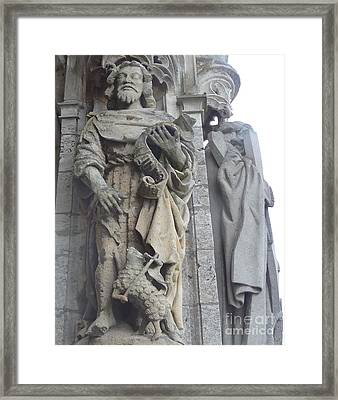 Framed Print featuring the photograph Chartres Cathedral Knight by Deborah Smolinske