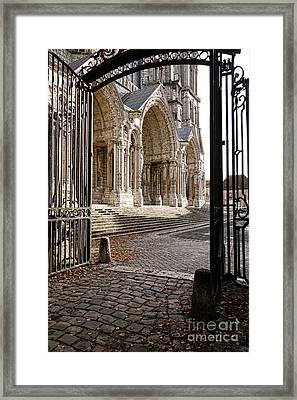 Chartres Cathedral North Transept Framed Print by Olivier Le Queinec
