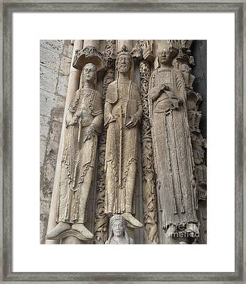 Framed Print featuring the photograph Chartres Cathedral Saints by Deborah Smolinske