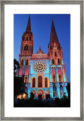 Chartres Cathedral With Colors Framed Print by RicardMN Photography