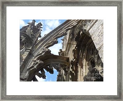 Framed Print featuring the photograph Chartres Flying Buttress by Deborah Smolinske