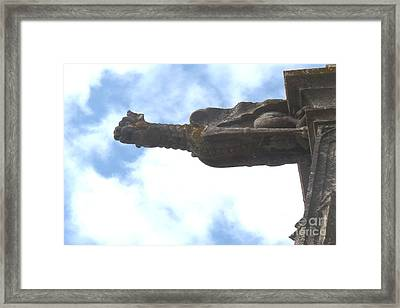 Framed Print featuring the photograph Chartres Gargoyle by Deborah Smolinske