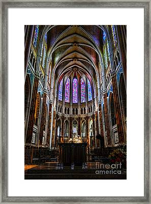 Chartres Framed Print by Olivier Le Queinec
