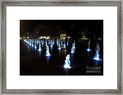 Framed Print featuring the photograph Chartres Street Fountains by Deborah Smolinske