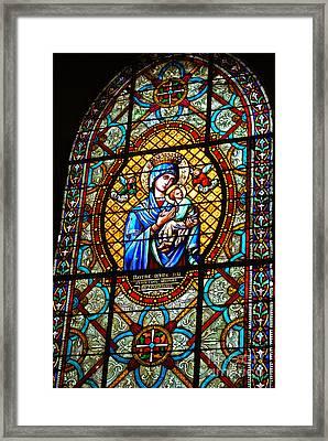 Chartres Vitrail Framed Print by PatriZio M Busnel
