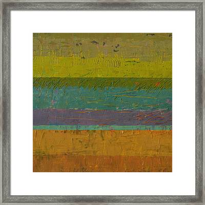 Chartreuse Line Framed Print by Michelle Calkins