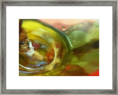 Framed Print featuring the photograph Chartreuse Series Abstract Xiv by Ginny Schmidt