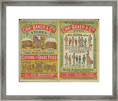 Chas Baker And Co. Stores Framed Print