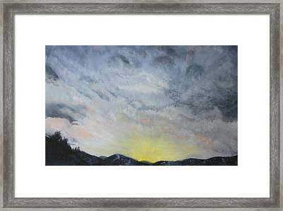 Chase Away The Dark Framed Print by Jane Autry