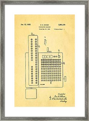 Chase Calculating Machine Patent Art 1932 Framed Print