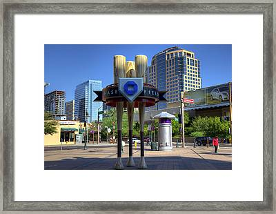 Chase Field Framed Print by Ricky Barnard