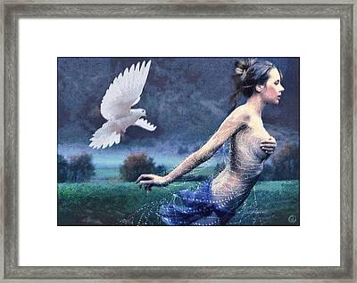 Chased By Purity Framed Print by Gun Legler