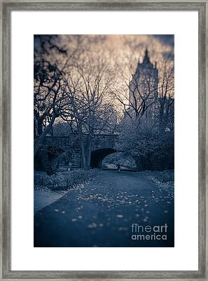 Chased Through Central Park Framed Print by Edward Fielding