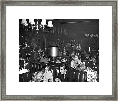 Chasen's Hollywood Restaurant Framed Print by Underwood Archives