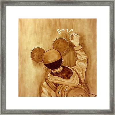Chasing Adobo Dreams Framed Print by Clarisse Pastor-Medina