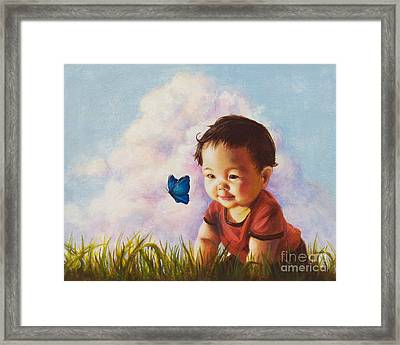 Chasing Butterfiles Framed Print by Isabella Kung