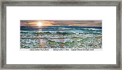 Chasing Chatham Beach Sunsets Framed Print by Rita Brown