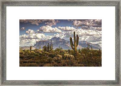 Chasing Clouds Two  Framed Print