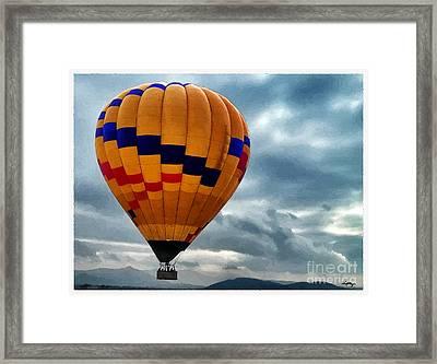 Chasing Hot Air Balloons Framed Print by Glenn McCarthy Art and Photography
