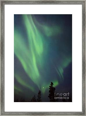 chasing lights II with textures Framed Print