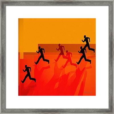 Chasing Shadows Framed Print by Bob Orsillo