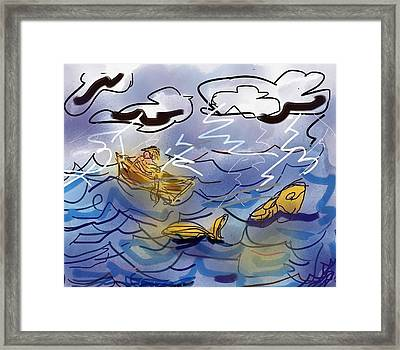 Chasing The Fish Framed Print
