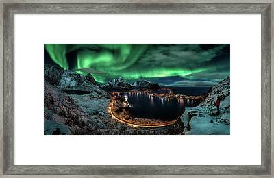 Chasing The Northern Lights Framed Print