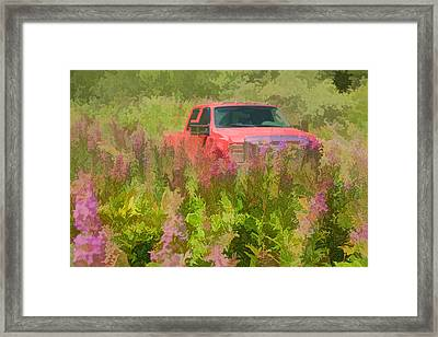 Chasing Wildflowers Framed Print
