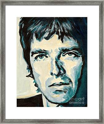 Noel Gallagher Framed Print by Tanya Filichkin