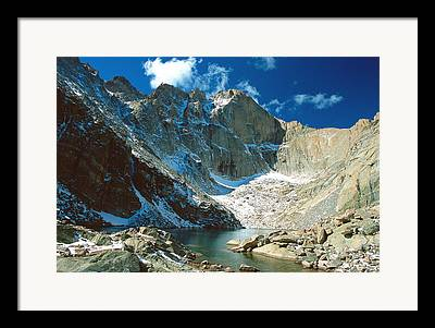 Chasm Lake Framed Prints