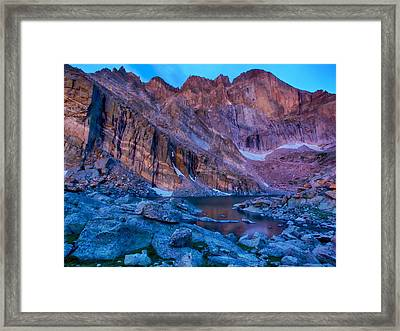 Chasm Lake Gold Framed Print