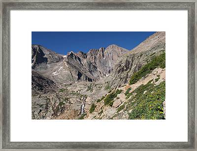 Chasm Lake Junction And Longs Peak Framed Print