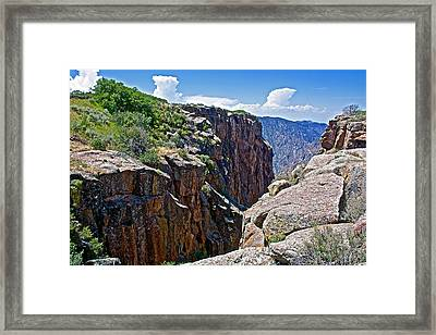 Chasm Near Beginning Of Warner Point Trail In Black Canyon Of The Gunnison National Park-colorado Framed Print