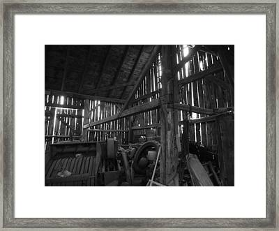 Framed Print featuring the photograph Chassell Barn by Jenessa Rahn