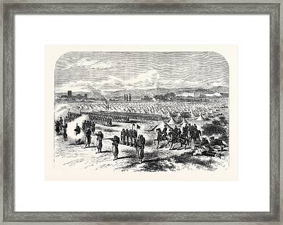 Chassepot Rifle Instruction At The Camp Of St Framed Print by English School