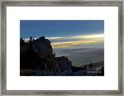 Framed Print featuring the photograph Chasseral Overlook by Charles Lupica